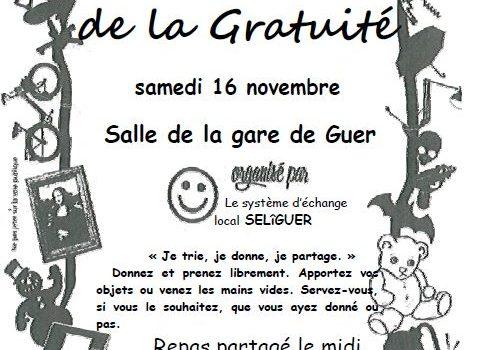 Marché de la gratuité le 16 novembre 2019 à Guer
